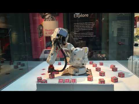 Alphabot at the National Museum of Scotland