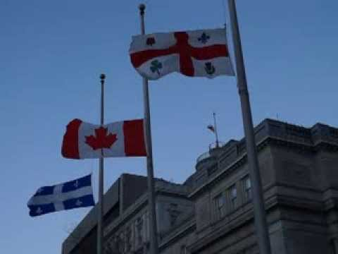 Flags Fly At Half Mast For Nelson Mandela At Montreal City Hall MAQ06824