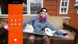 Setups: Jamie Anderson's Contest Winning Snowboard Gear