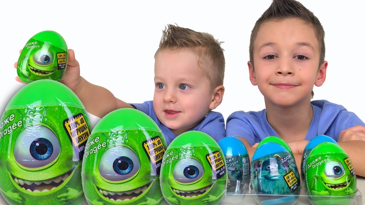 Корпорация Монстров Сюрпризы Видео для детей Игрушки Корпорация Монстров