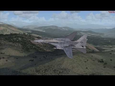 FSX - F14 Flight through Turkey