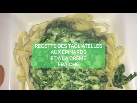 recette-des-tagliatelles-aux-Épinards-et-À-la-crÈme-fraÎche-liquide-(vegan)