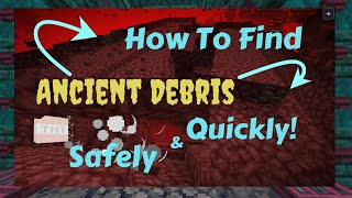 """How to Find Ancient Debris and Netherite Quicky and Safely (sort of).  T- Mining! TnT """"research""""!"""