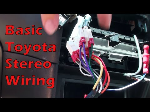 basic car radio wiring wire almost any basic toyota stereo - youtube