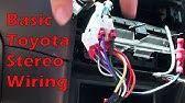 Toyota Corolla car stereo wiring color explained 2003-08 How ... on