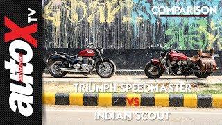 Triumph Bonneville Speedmaster vs Indian Scout | Comparison | autoX