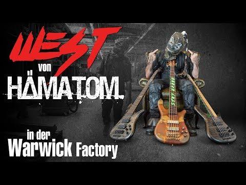 Hämatom's WEST in der Framus & Warwick Custom Shop Factory