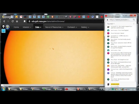 smAsho streAm LIVE: Space Weather, Earth Weather, Sunspot 2735, Interaction with Viewers