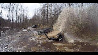 Купание Джипов В Лесу JEEP LADA 4X4 NIVA УАЗ NISSAN OFFROAD