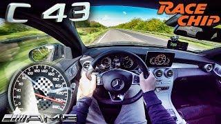 Mercedes AMG C43 RACECHIP 434 HP ACCELERATION & TOP SPEED AUTOBAHN POV by AutoTopNL