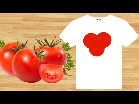 Чем отстирать помидор с одежды