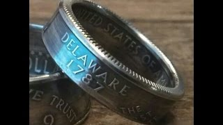 How to make double sided quarter coin rings with no hammering
