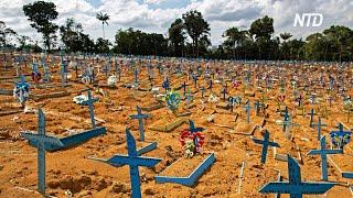 В Бразилии коронавирус унёс уже более 200 000 жизней