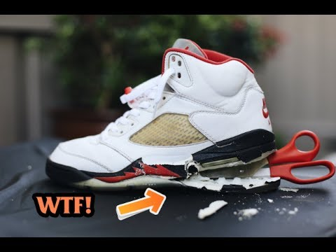 1999 AIR JORDAN FIRE RED 5 SOLE SWAP!!!