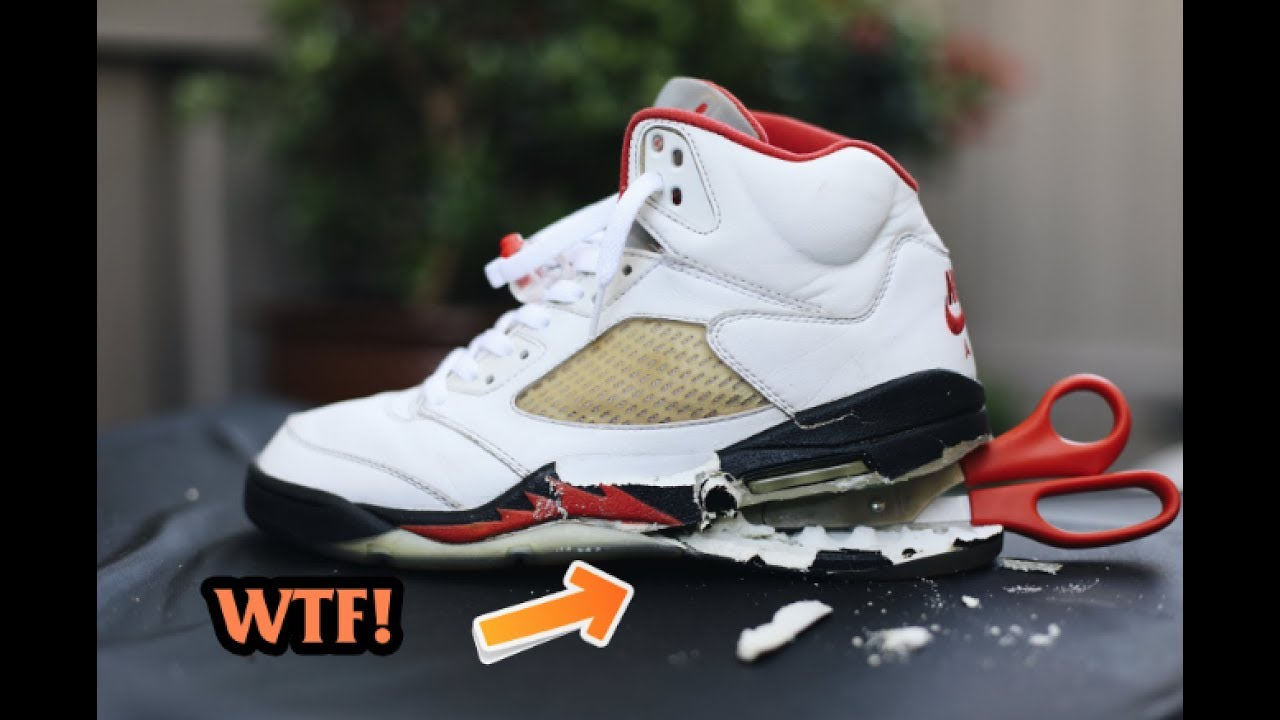 competitive price 4a40a 9061d 1999 AIR JORDAN FIRE RED 5 SOLE SWAP!!!