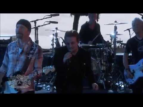 """U2- """"I Still Haven't Found What I'm Looking For"""" Jimmy Kimmel Live [HQ]"""
