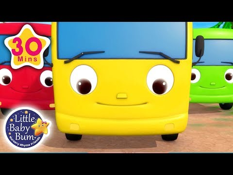 10 Little Buses | + More Nursery Rhymes & Kids Songs | Little Baby Bum