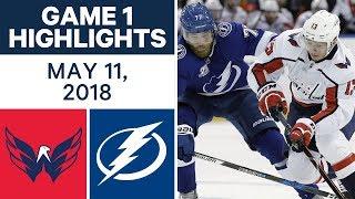 NHL Highlights   Capitals vs. Lightning, Game 1 - May 11, 2018