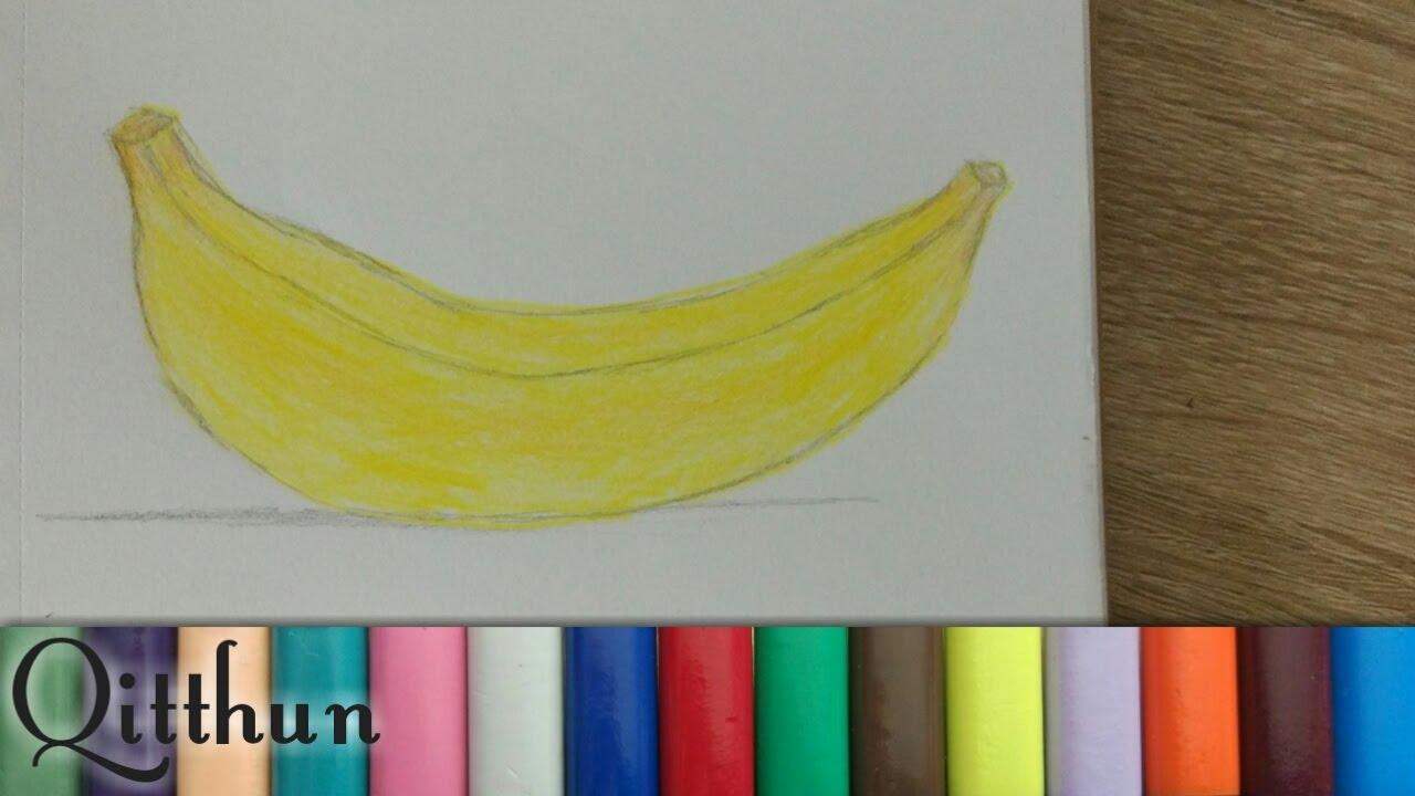 Cara Menggambar Buah Pisang Speed Drawing
