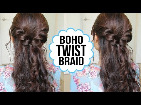 Easy Twist Braid Hairstyle | Hair Tutorial