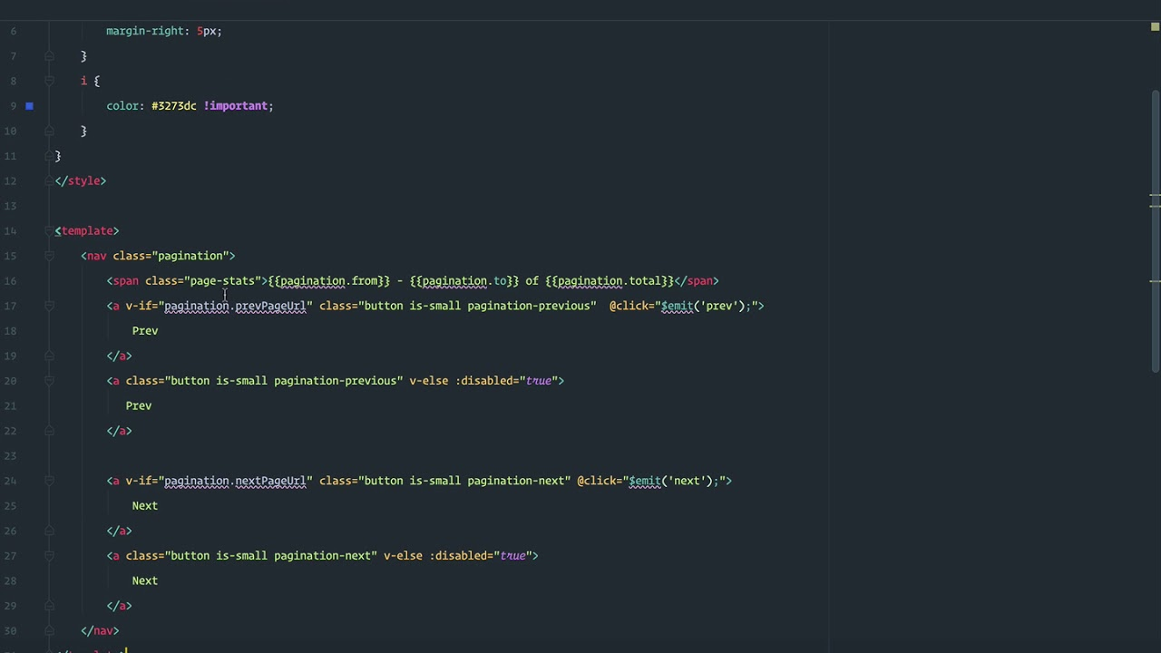 Datatables with Vue js and Laravel - Server side