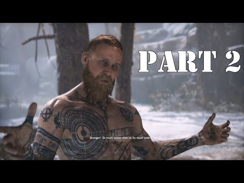 God Of War (GOW Difficulty) Walkthrough Gameplay PART 2 - The Stranger (PS4 Pro)