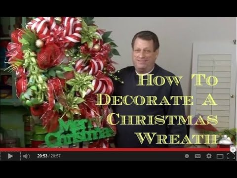 how to decorate an artificial christmas wreath - How To Decorate Artificial Christmas Wreath