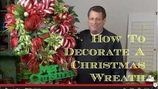How To Decorate An Artificial Christmas Wreath