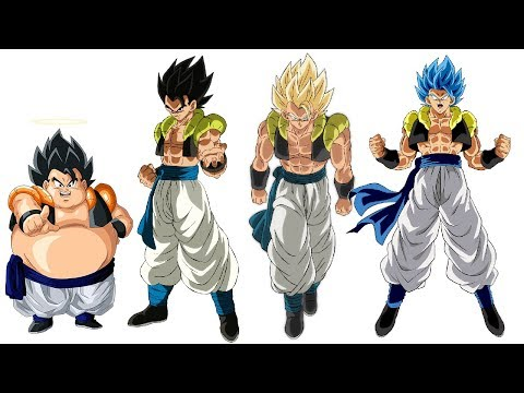 DBZMacky Gogeta POWER LEVELS All Forms Over The Years (DBZ/DBS)