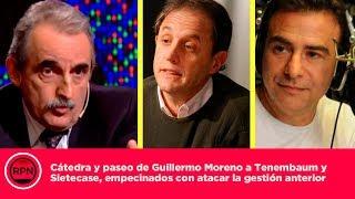 Catedra y paseo de Moreno a Tenembaum y Sietecase, empecinados con atacar la gestion anter ...