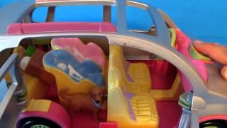 Fisher Price Loving Family Dollhouse Minivan Van Car Musical Carseats Twins Dog