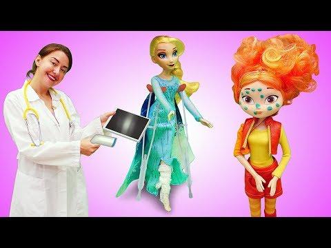 Видео для детей Веселая школа. Кукла Доктор Плюшева приглашает на медосмотр!