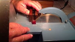 "Cutting a Ruby with a 6"" Diamond saw by Jeffery Krueger"