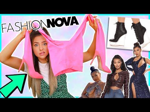 I Spent £200 On The Strangest Fashion Items From Fashion Nova ! Very EXTRA haul !