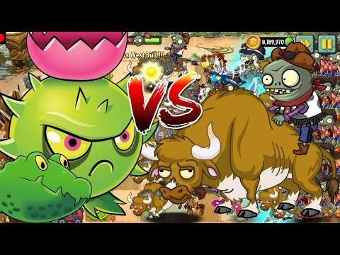 Plants vs Zombies 2 Epic Hack : Homing Guacodiles vs West Bulls in Modern Beach
