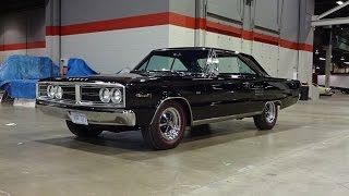 1966 Dodge Coronet 500 in Black Paint & 426 Hemi Engine Sound on My Car Story with Lou Costabile