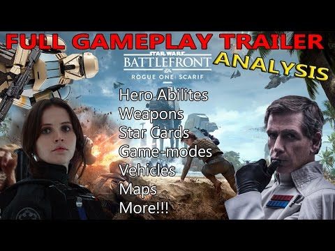 Star Wars Battlefront - Rogue One DLC: Full Trailer Analysis |