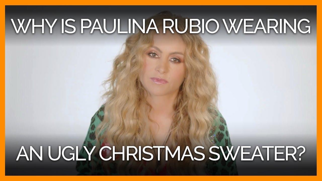 Pourquoi Paulinia Rubio porte un pull de noël moche ?