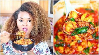 Spinach Tortellini Soup with Italian Sausage + Mukbang (Eat With Me)