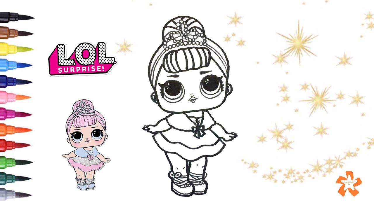 L O L Surprise Crystal Queen How To Color Baby Doll Surprise