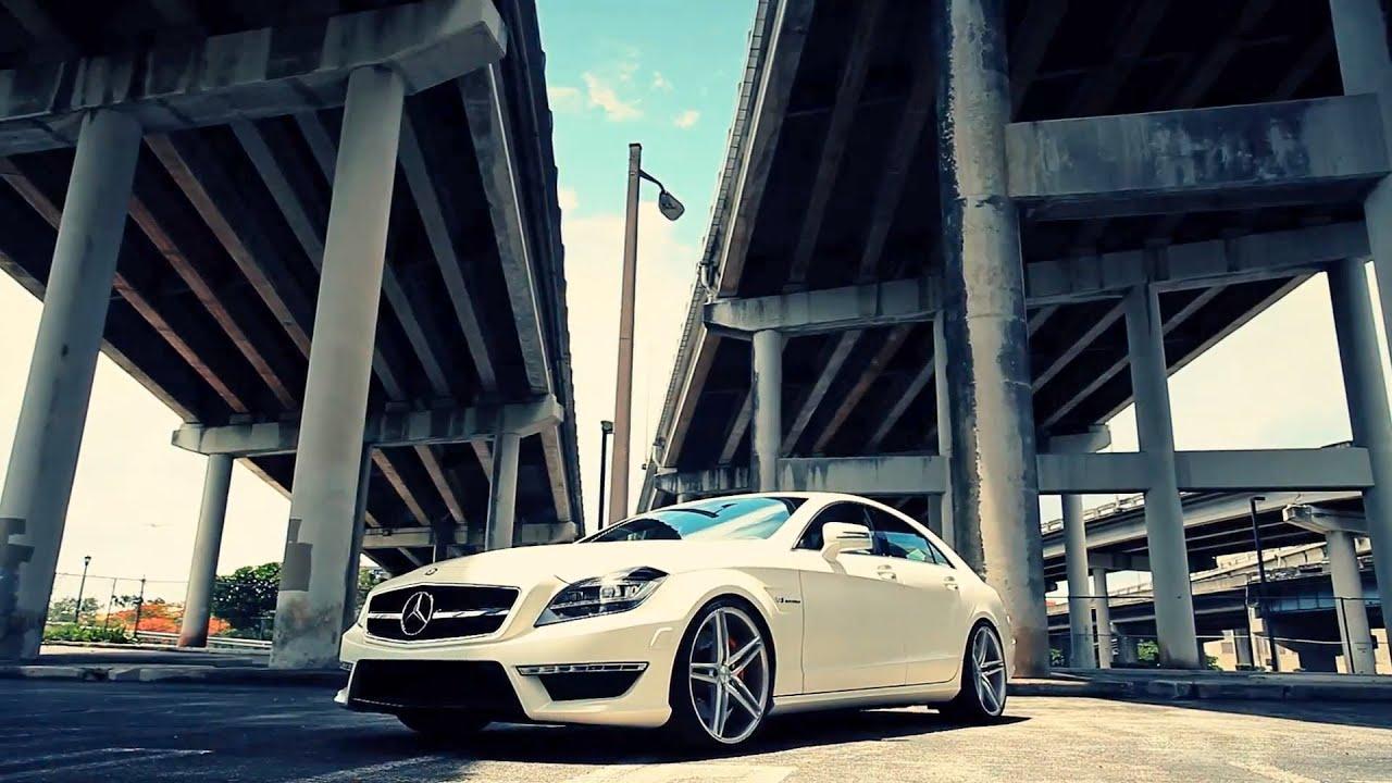 The Vossen Matte White Mercedes Benz Cls63 Amg On 20 Quot Vvs