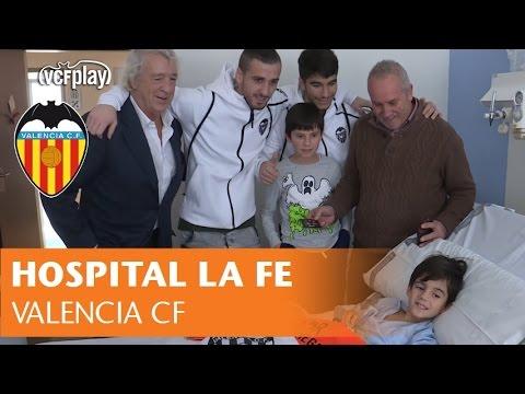 El valencia cf visita a los ni os del hospital la fe - Hospital nueva fe valencia ...