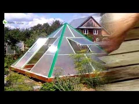 видео: Как построить теплицу пирамиду своими руками