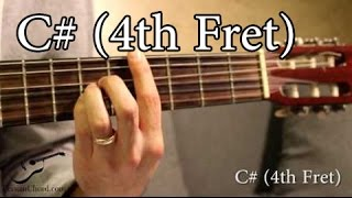 c# chord on guitar (4th fret)
