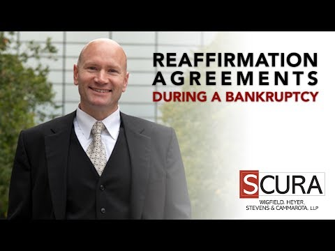 Reaffirmation Agreements During a Bankruptcy