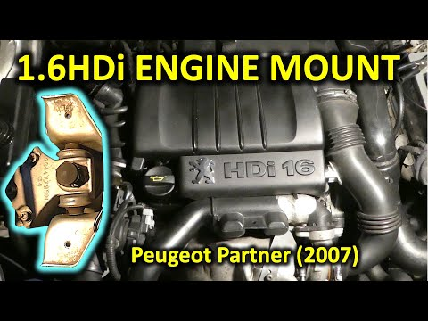 How to replace engine mount in 1.6HDi Peugeot Partner (or Citroen Berlingo 2001-2010)