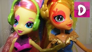 ✿ Распаковка Пони Флаттершай и Эпл Джек My Little Pony Fluttershy Applejack Equestria Girl Doll