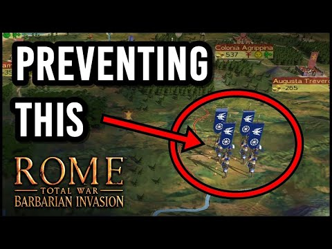 Rome Total War: Barbarian Invasion Tip - How to Prevent Enemies Forming Hordes