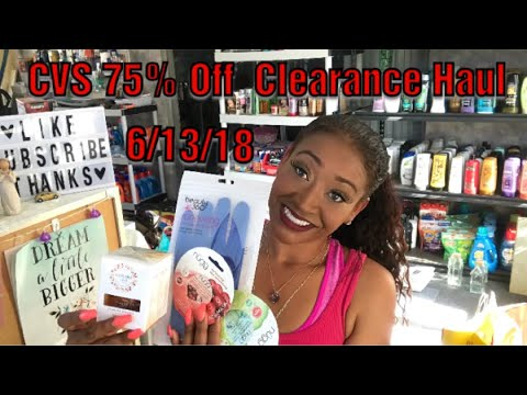 CVS 75% Off Clearance Haul♥️ 6/13/18||...