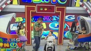 Baste singing and dancing Say You'll never let me go (patintero dance)